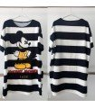 Dress Stripes Mickey Mouse