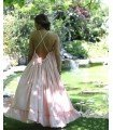 Dress Wide Chiffon With open Back